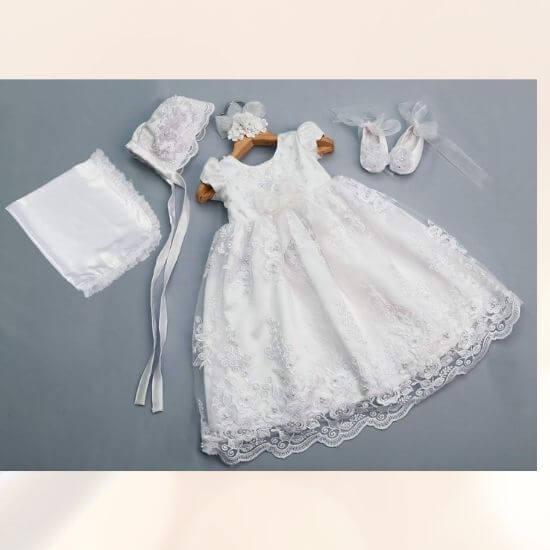 Baby Girl's Christening Baptism Set