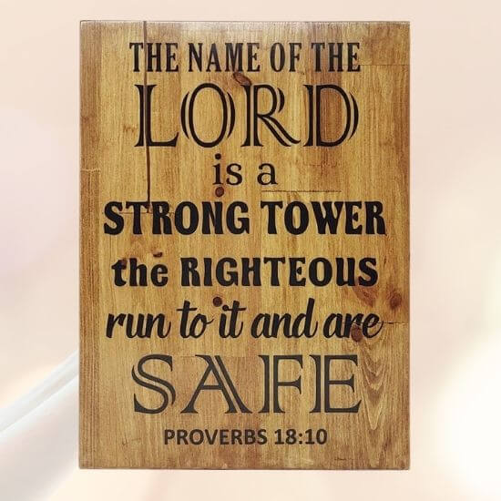Bible verse wooden plaque