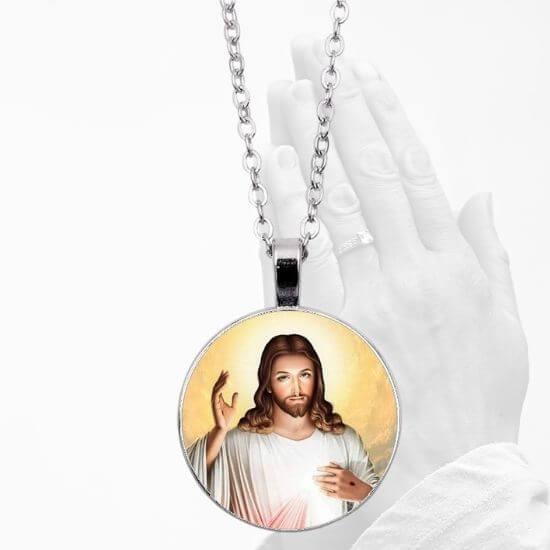 Divine Mercy Pendant Necklace