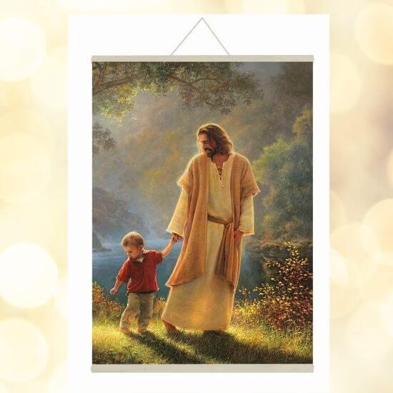 Jesus holding a Child's Hand