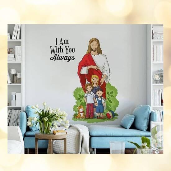 Jesus with Children Wall Sticker