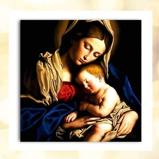 Mother Mary & Baby Jesus Painting