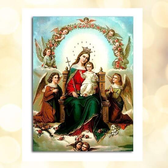Queen of Heaven & Jesus Painting