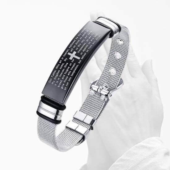 Stainless Steel Cross Bracelet